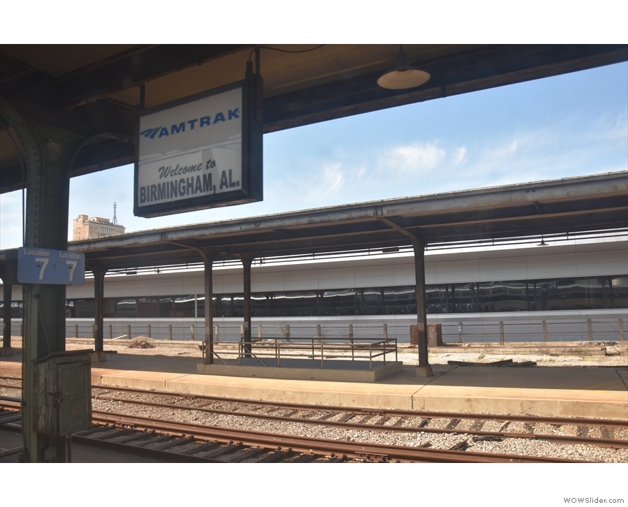 And here we are, in Birmingham, Alabama, one of two passenger trains that day.
