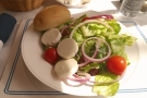 My lunch, a goat's cheese salad...