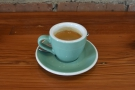 My espresso, the Burundi guest single-origin, on its own...