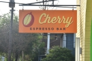 The cheery sign gives the game away: this is the home of the original Cherry Espresso Bar.
