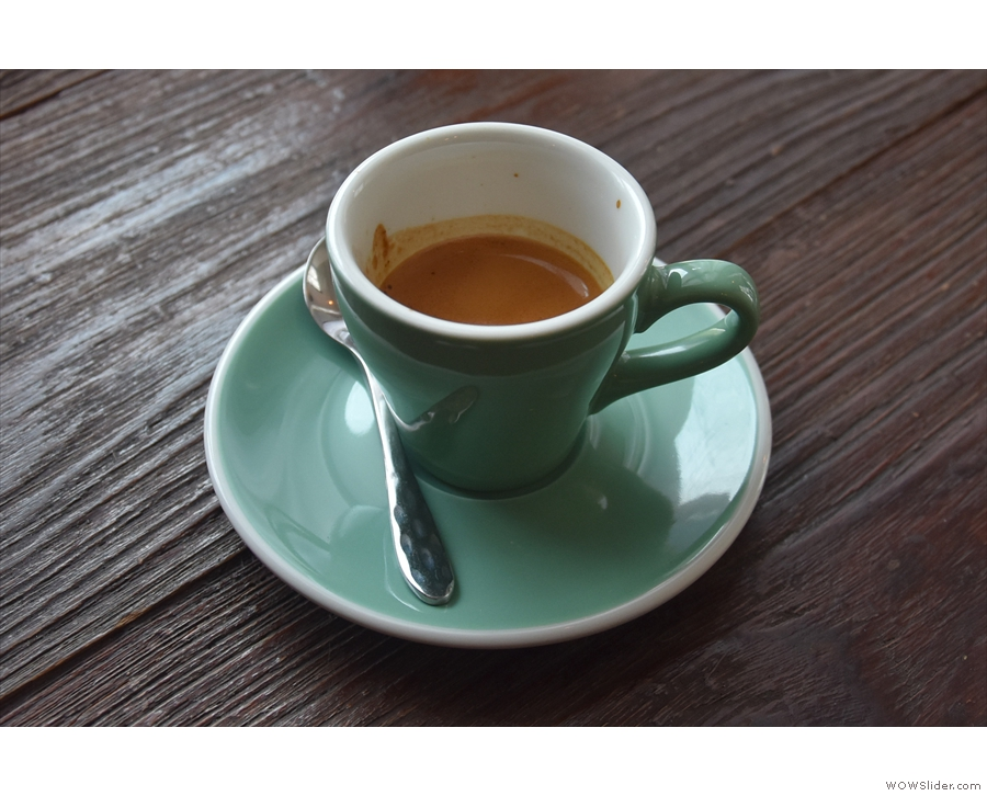 I had a very fine Thai single-origin espresso from Chiang Rai...