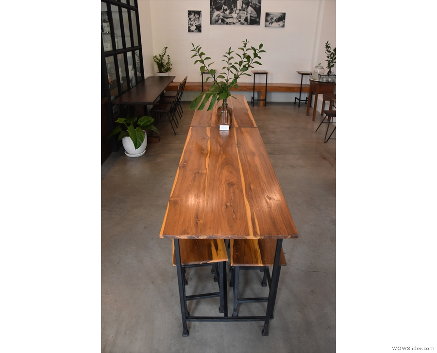 This magnificent communal table occupies the centre of the room...
