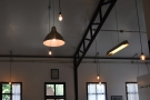 The only natural light is at the front, so there are plenty of light-fittings of various sorts.