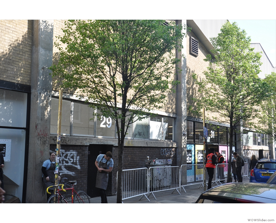 For many years, the front entrance of the London Coffee Festival was on Hanbury Street...