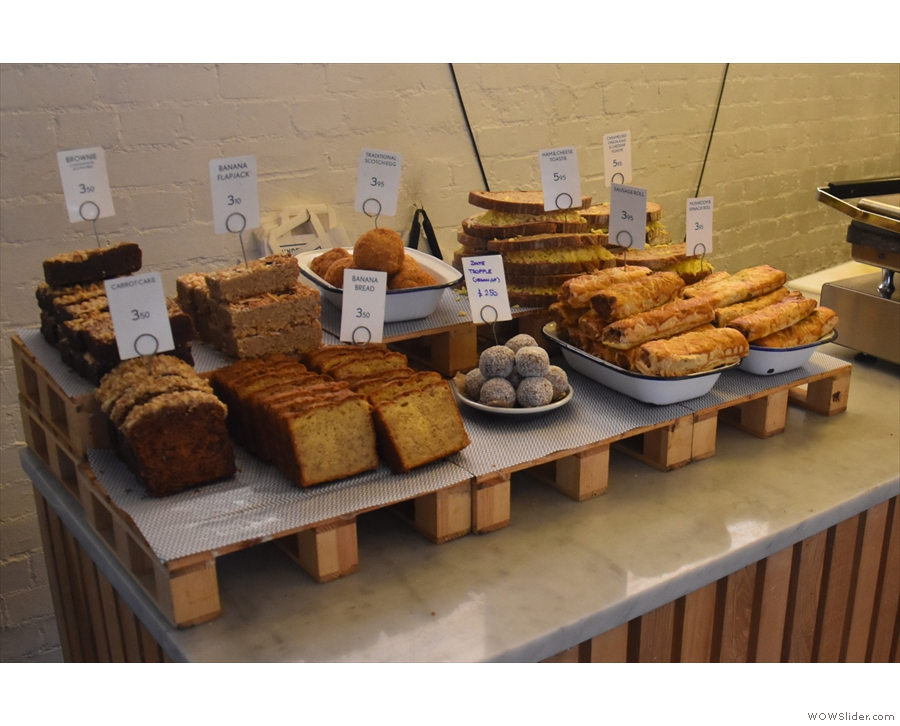 The cakes and toasties are at the front on the left as you enter.