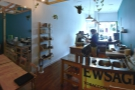 The view from the back, looking towards the counter.