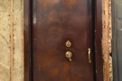 This safe door in the front is left over from when the shop housed a diamond merchant.