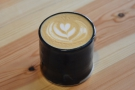 ... was this. I'll leave you with this final shot of latte art in another wonderful ceramic cup.