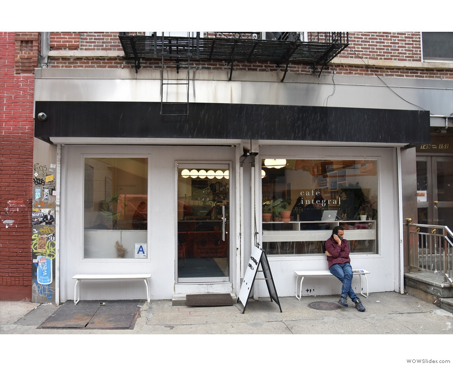 On New York's Elizabeth Street, you'll find the permanant home of the lovely Cafe Integral.