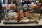 ...while front and centre is a cabinet bursting with cakes.