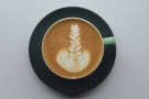 Impressive latte art from barista Joel.