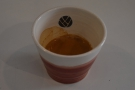 And there it is, my espresso in a lovely, handless Claire Henry ceramics cup.