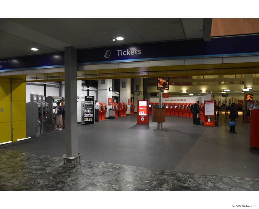 Euston has multiple entrances. The front one on the lef brings you in by the ticket office.