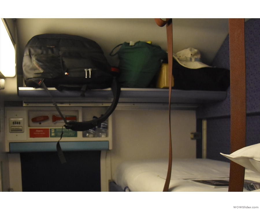 ... which takes a small amount of luggage (the other option is under the bottom bunk).
