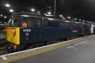 The Caledonian Sleeper, although this locomotive just pulled the train into on Platform 1.