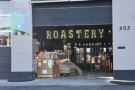 That said, you can enter through the roll-up doors of the roastery.