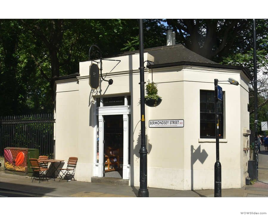 At the southern end of Bermondsey Street stands this compact, octagonal building.