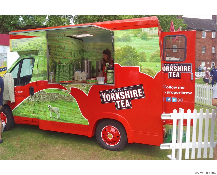 It wasn't all coffee though. Yorkshire Tea was out in force with its van, Little Urn.