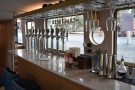 ... where you'll find the beer taps. There are eight craft beers in all.