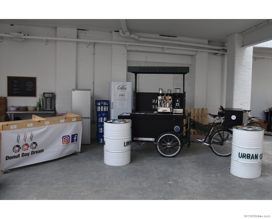 At the far end was this custom mobile coffee tricycle.