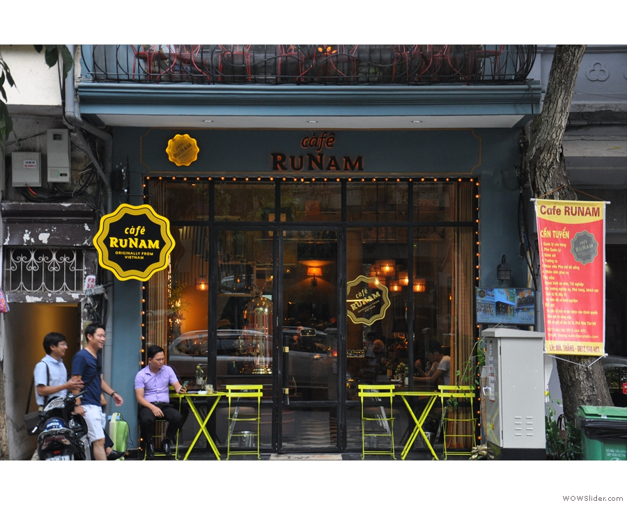 Now rebranded as RuNam Bistro, there's this neat store front at street level...