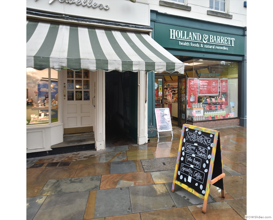 On Market Street, in the heart of Lichfield, an interesting A-board catches the eye...