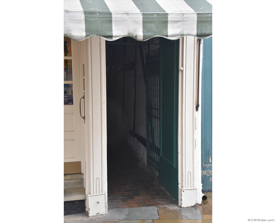 ... and directs us to this narrow passageway, which leads off to the north.