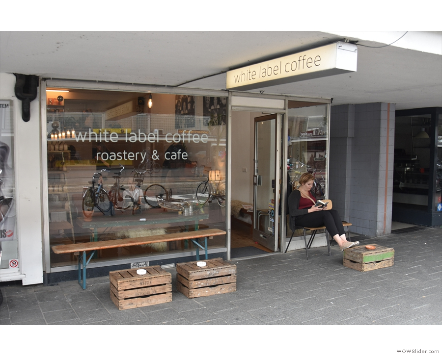 ... is home to the modest shop front of White Label Coffee.