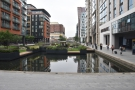 Paddington Basin, my hotel behind me, my office (& the station), way off in the distance...