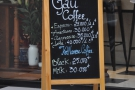It's Gấu Coffee, by the way, as the A-board proudly proclaims.