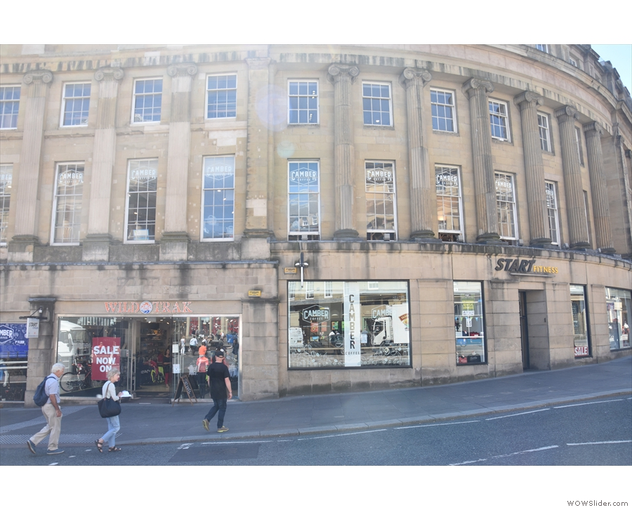 On Market Street, right in the heart of Newcastle, is a combined bike and fitness shop...