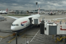 And here's my ride this Sunday afternoon, a Boeing 777-200.