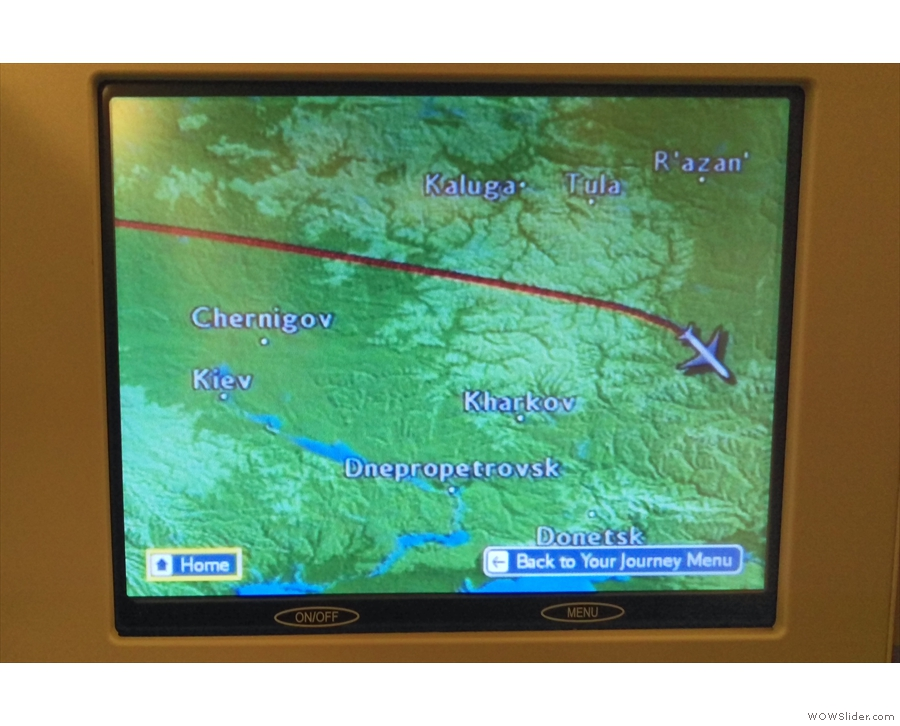 By now, we were crossing into Russian airspace...
