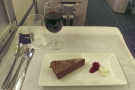 I had a flourless chocolate cake and also ordered a glass of port...