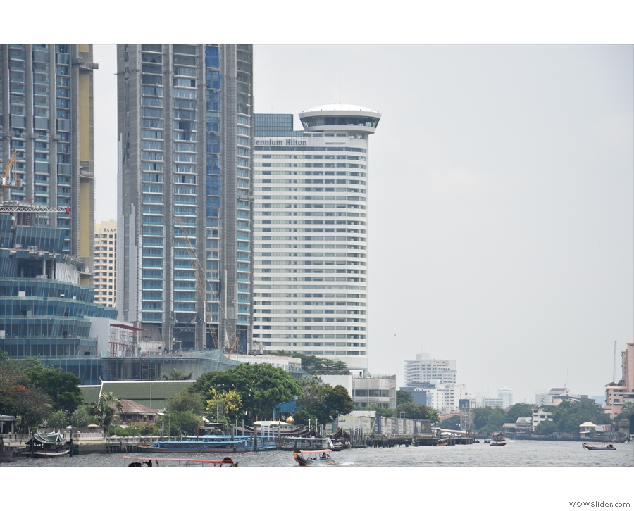 That hotel, to be precise, the Millennium Hilton (right-most of the buildings).