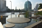 ... and two views from the hotel itself. This is from the breakfast terrace by the river...