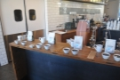 There were six coffees in all, each with a pair of cupping bowls.