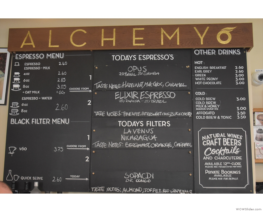... where you'll find the menu handily-placed on the wall behind the counter.