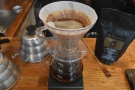 Then the coffee is left to filter through.