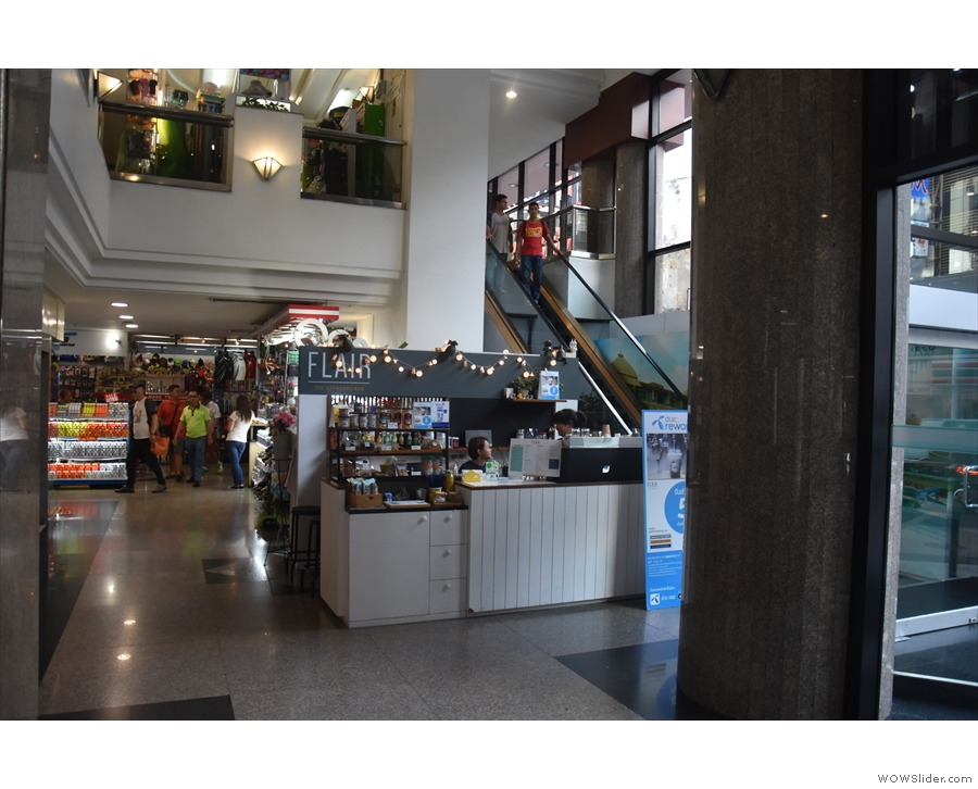 There were also little espresso bars such as Flair, inside a large shopping mall...