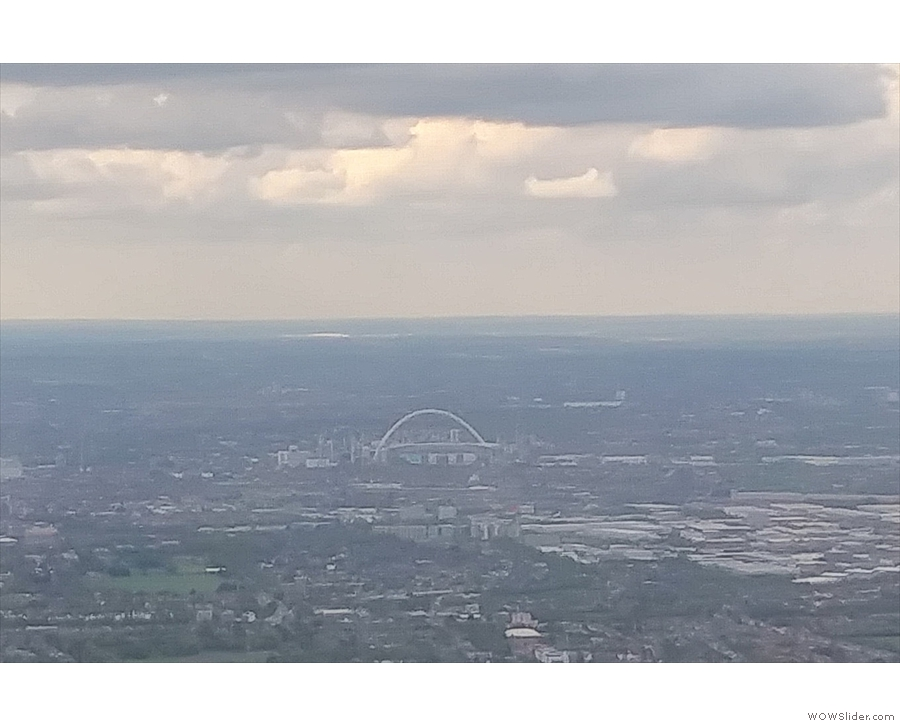 Wembley Arch is always a sign that we'll be landing very soon.