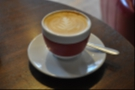 The piccolo, which was very good, came in another handleless cup.