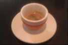 I followed it up with an espresso in this very fine, handleless cup, with an orange grip.
