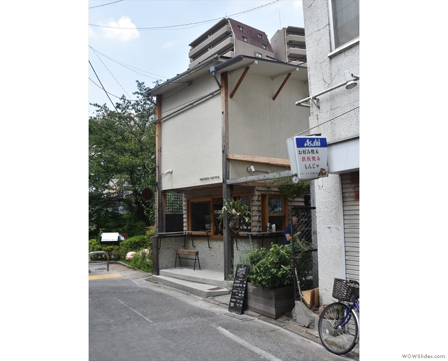 On a narrow street near Naka-Meguro station in Tokyo stands this modest building.