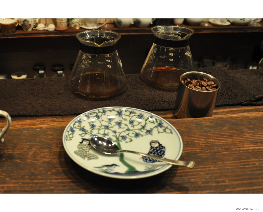 When you order, the first sign that your coffee's coming is an empty saucer on the counter.