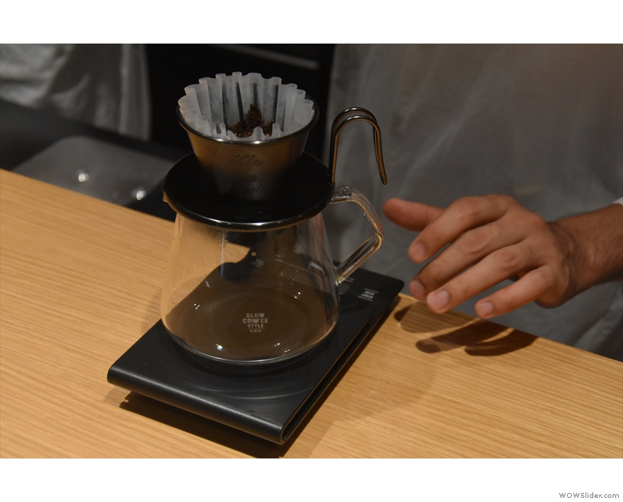 I decided to continue my exploration of darker roasts with a pour-over...