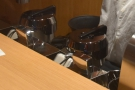 Pride of place goes to two in-built group heads from a bespoke Synesso Hydra machine.