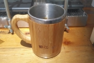 My WAKEcup, by the way, is metal, with a bamboo sleeve. The handle is awesome.