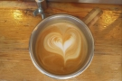 ... and this time I remembered to take a picture of the latte art.