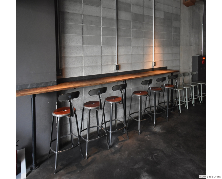 Alternatively, grab a stool at this narrow bar against the left-hand wall.